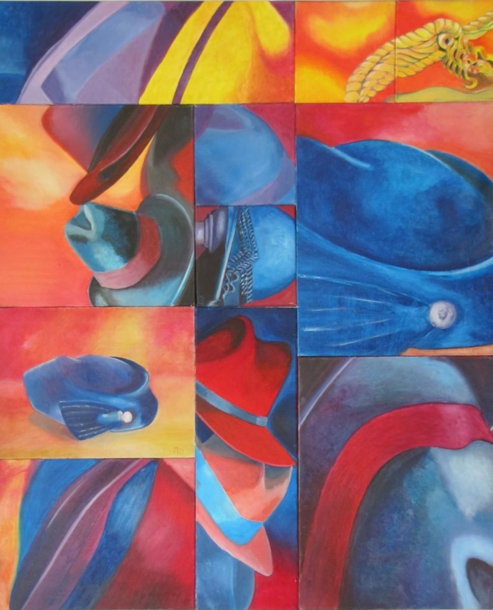 Hoedencomplex schilderij