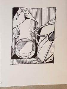 een tekening tijdens de masterclass gemaakt